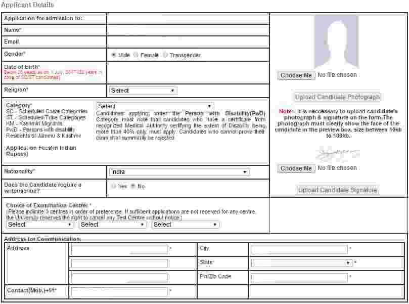 AILET Applicant Details