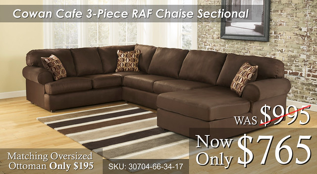 Cowan Cafe 3 piece Sectional RAF Special