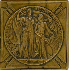"""1904 SAINT LOUIS WORLD'S FAIR """"SILVER"""" MEDAL obverse"""