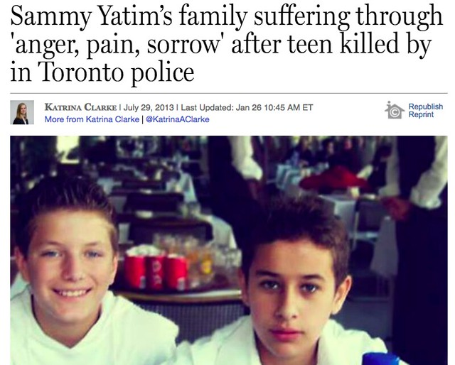 Katrina Clarke's story about Sammy Yatin's family following his death in 2013.