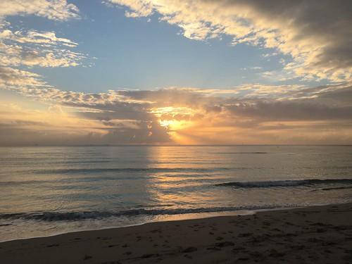 Miami beach, alba di Gennaio 27 gradi!