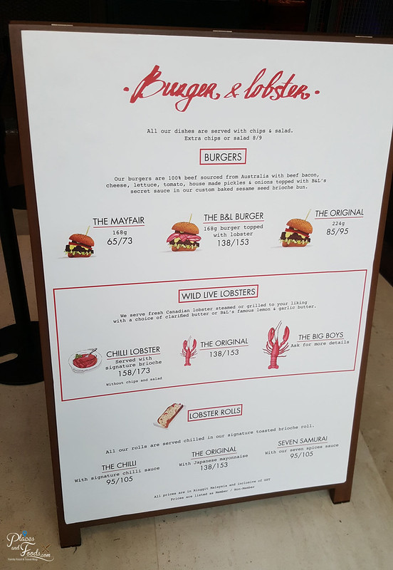 burger and lobster malaysia menu