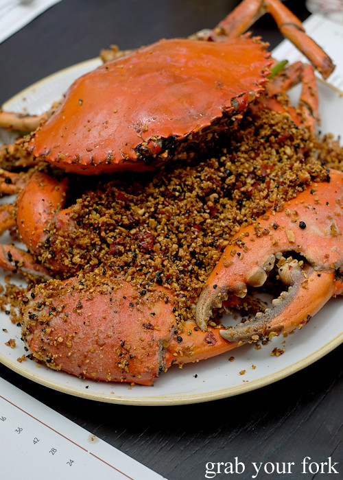 Typhoon shelter mud crab at Queen Chow by Merivale in Enmore
