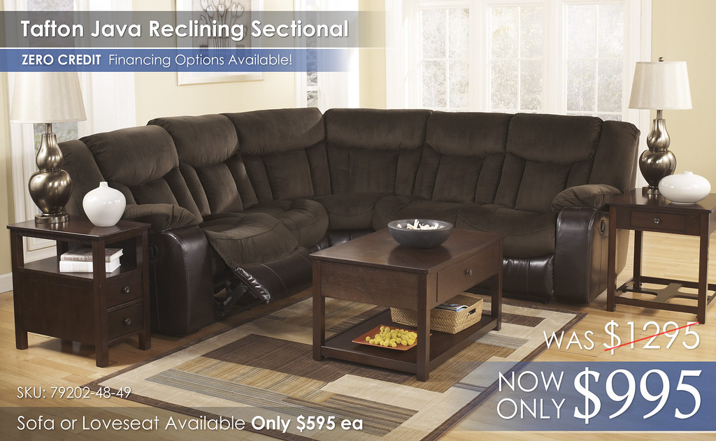 Tafton Java Reclining Sectional 2017