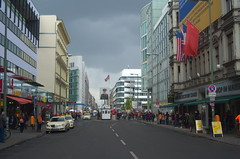 Looking eastward - Checkpoint Charlie
