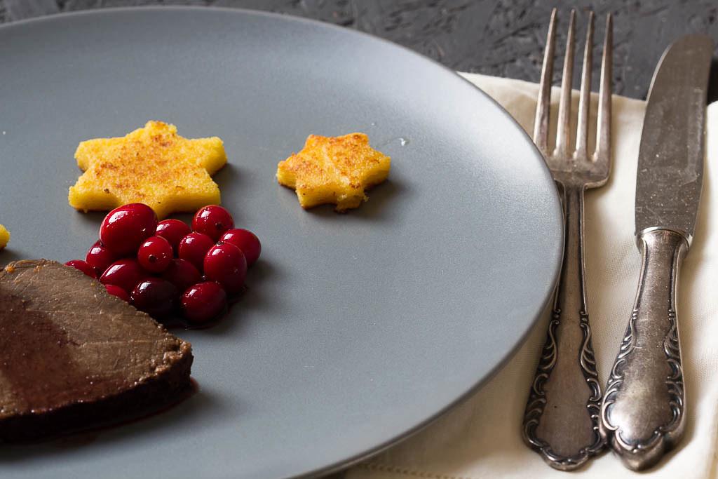 Rinderbraten mit Cranberrysauce