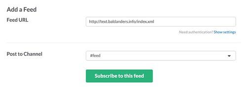 Slack RSS integration 2
