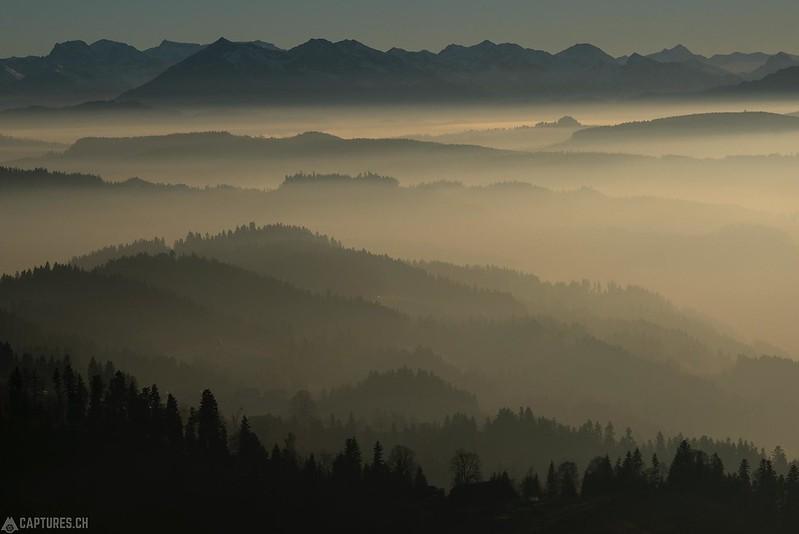 Hills in the fog - Langnau