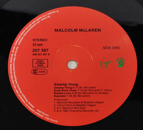 Malcolm McLaren Swamp Thing