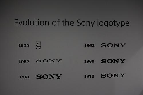 Evolution of the Sony logotype