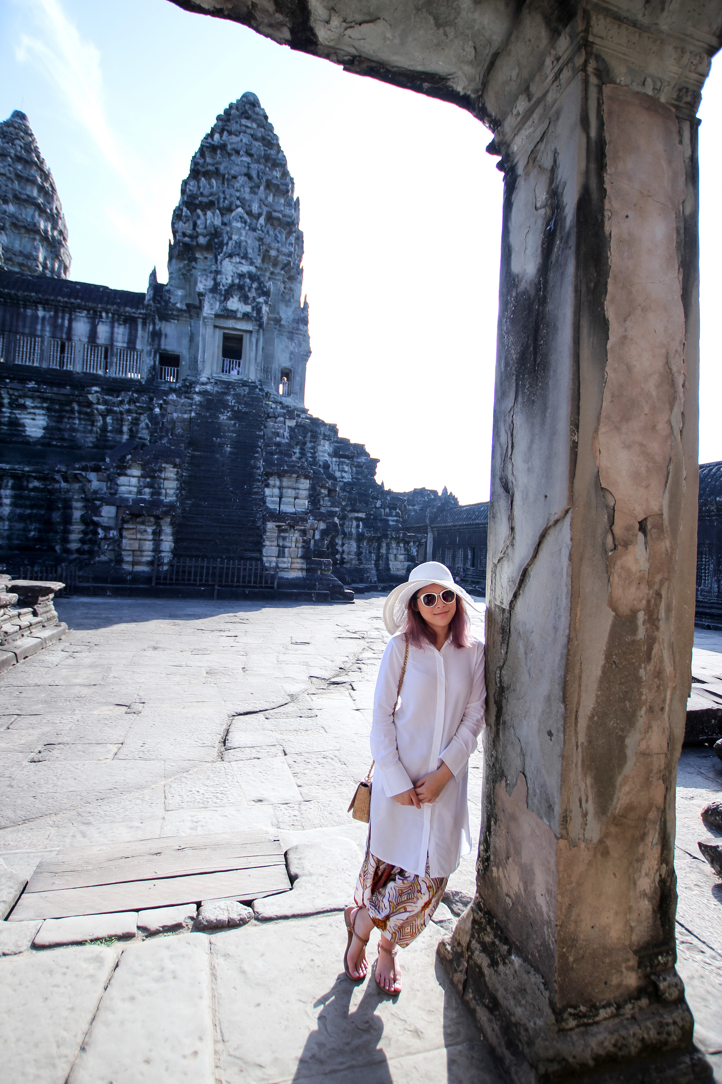 The Angkor Wat behind me.