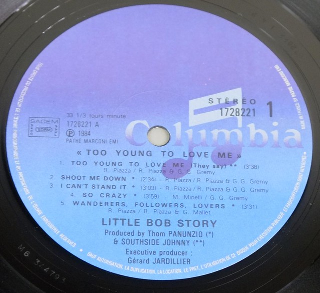 "LITTLE BOB STORY TOO YOUNG TO LOVE ME 12"" LP ALBUM VINYL"