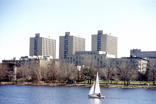 Boston University: Warren Towers - View from Charles River | by wallyg