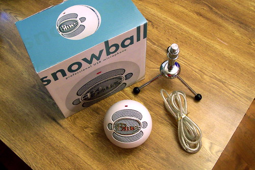 Blue Snowball mic package contents | by Derek K. Miller