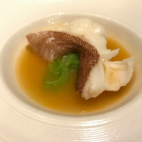 Steamed Fillet of Star Garoupa in Consomme of Lobster & Luffa Gourd - Man Fu Yuan CNY 2017 Media Preview