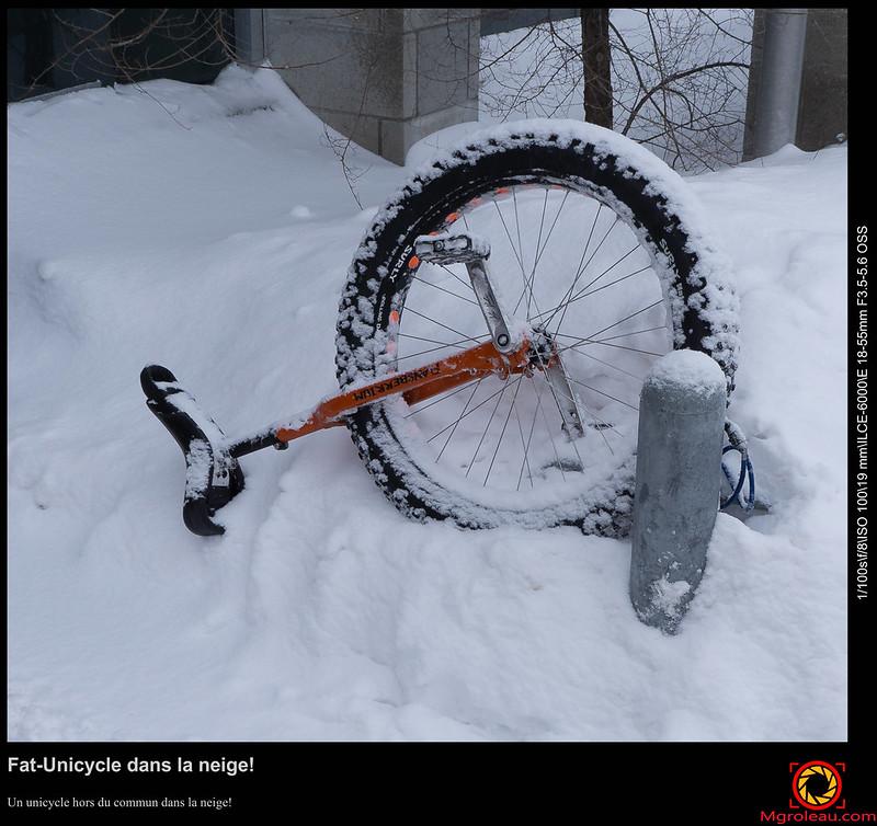 Fat-Unicycle dans la neige!