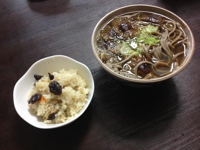 Nameko mushroom SOBA noodle