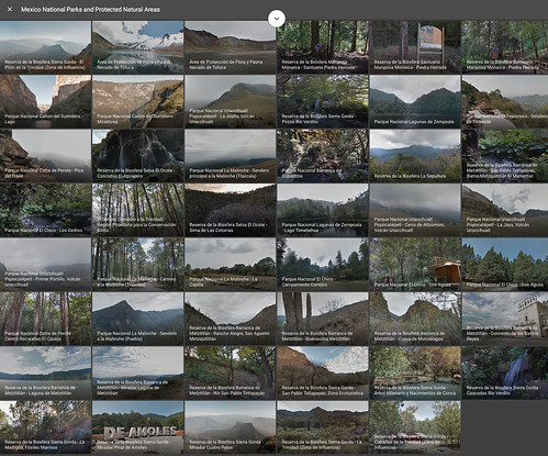 Mexico's National Parks via #StreetView