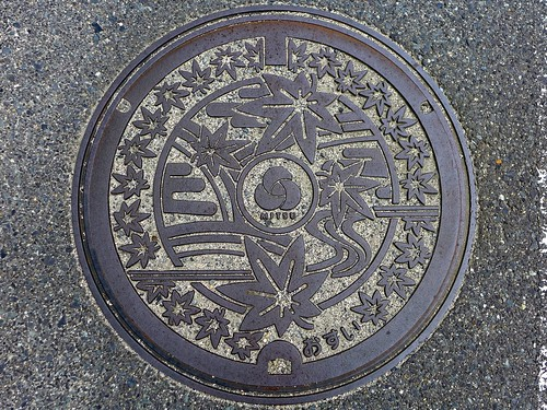 Mitsu Okayama, manole cover (岡山県御津町のマンホール)