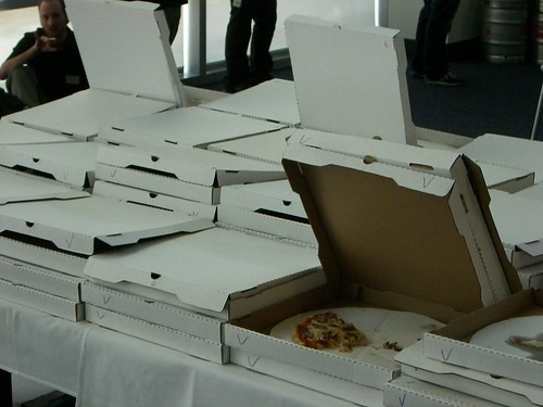 Field of Pizzas at Yahoo! Hack Day | by uvince