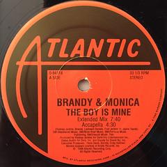 BRANDY & MONICA:THE BOY IS MINE(LABEL SIDE-A)