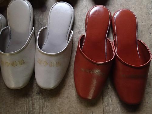 Shojoshin-in Koyasan temple women and men slippers