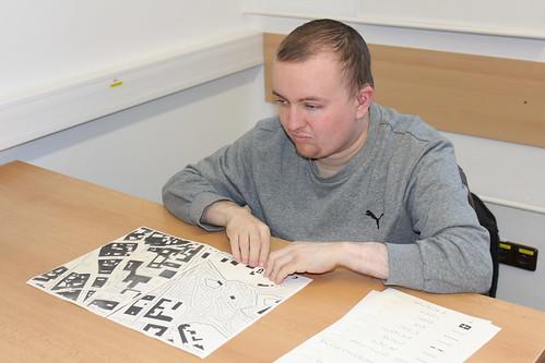 Václav Toul na workshopu Haptické Mapy.cz