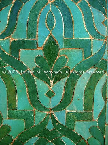 Green Tiles. Dar el Makhzen Palace, Fes Morocco. October 2005. | by Lauren M. Wayman