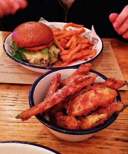 Dinner at the excellent Dexter Burger in Purley last week.