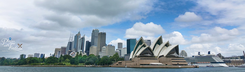 sydney opera house panoramic from sea