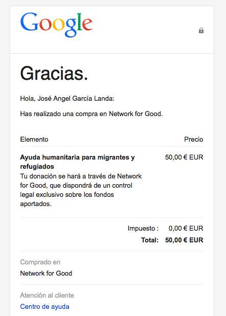 Google iguala tu donación de ayuda a refugiados