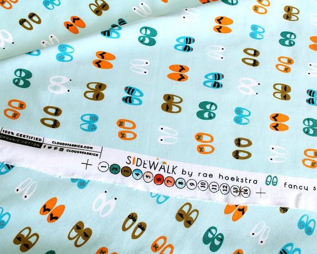 Cloud9 Fabrics Sidewalk 158303 Fancy Steps Turquoise