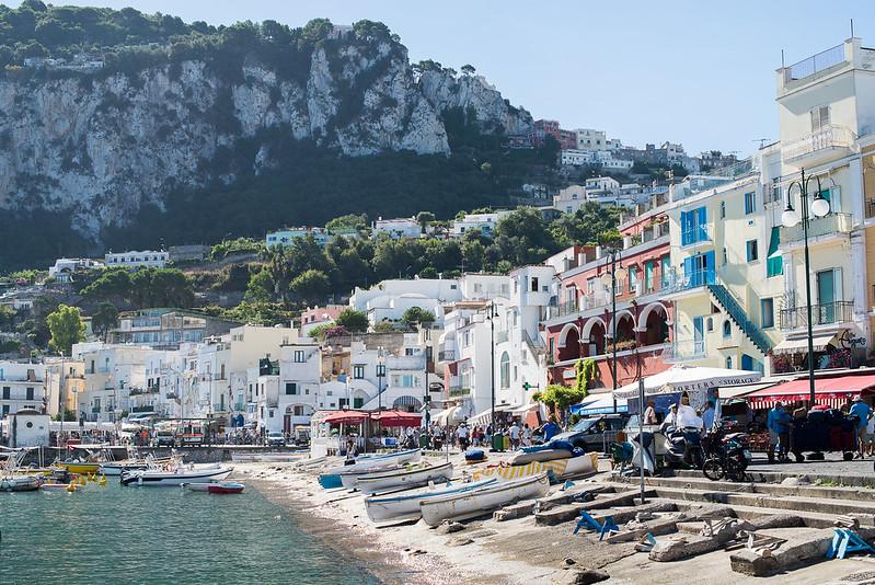 Llegando a Capri