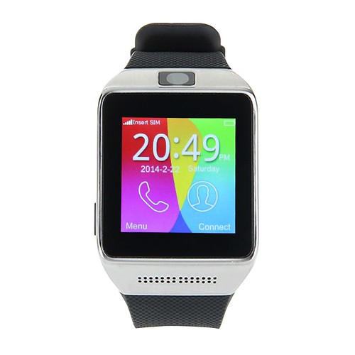 2015 GSM Bluetooth montres intelligentes 1.54 polegada écran tactile pour Android IOS podomètre Anti - perte Surpport carte T-Flash