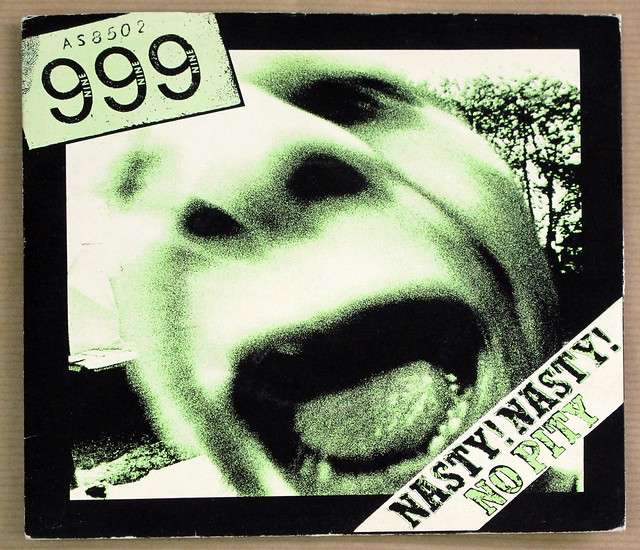 "999 NASTY NASTY / NO PITY GREEN VINYL 7"" 45RPM PS SINGLE VINYL"
