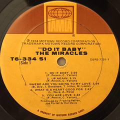THE MIRACLES:DO IT,BABY(LABEL SIDE-A)