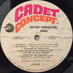 ROTARY CONNECTION:SONGS(LABEL SIDE-A)