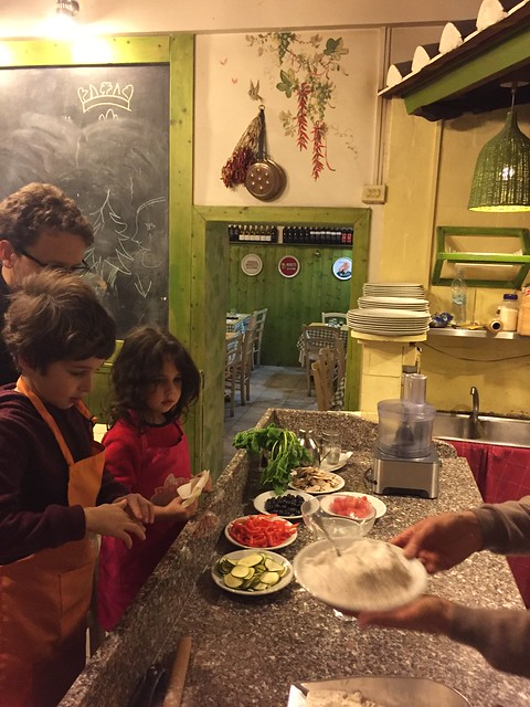 The pizza making class in Rome involved fresh ingredients including Italian 00 flour