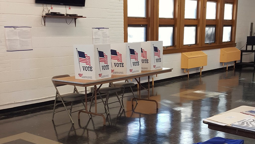 Voting booths in Cleveland Heights