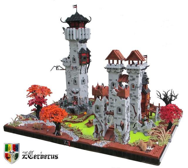 LEGO Castle MOC - Un château bien peu accueillant