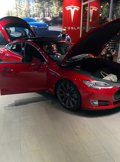 Birthday Tesla Test Drive