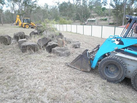 building a boulder wall