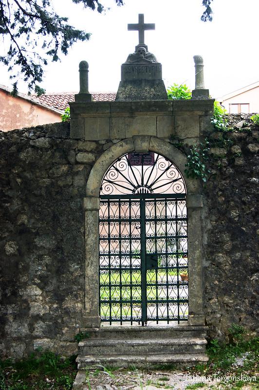 Вход на территорию кладбища