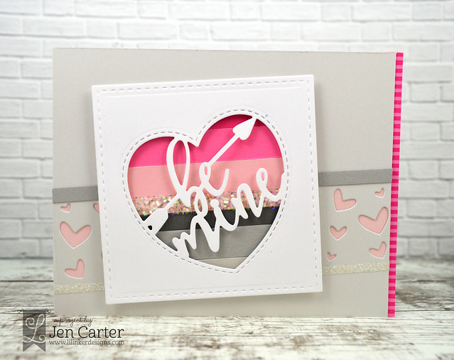Jen Carter Be Mine Greeting Striped 4 wm