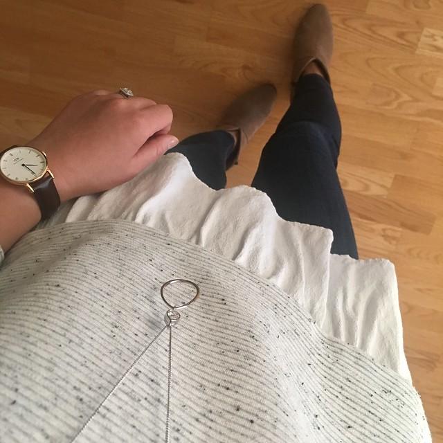 LOFT Flecked Two-In-One Sweater, size XS regular