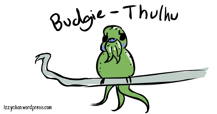 budgie bird Cthulhu