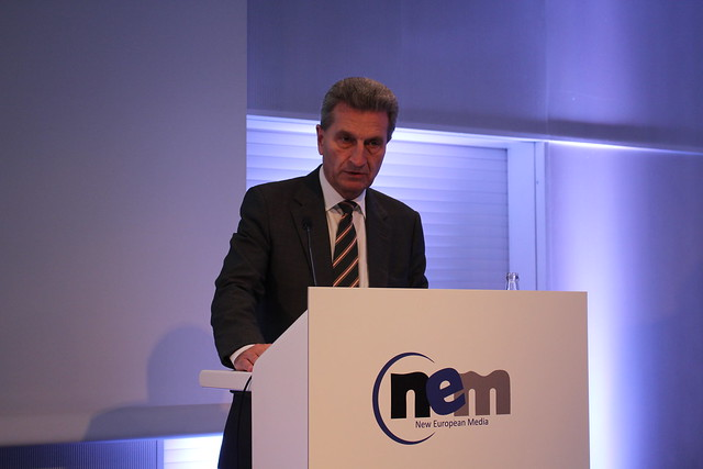 Günther Oettinger (European Commissioner for Digital Economy and Society) - Frankfurt Buchmesse 2015