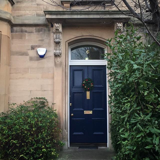 Festive doors of Edinburgh