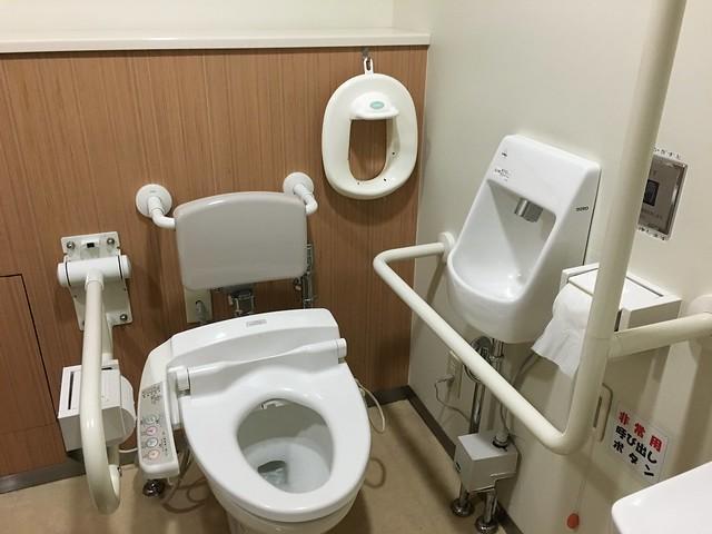 百貨公司的廁所讓我覺得最帥的地方就是有兒童馬桶墊!