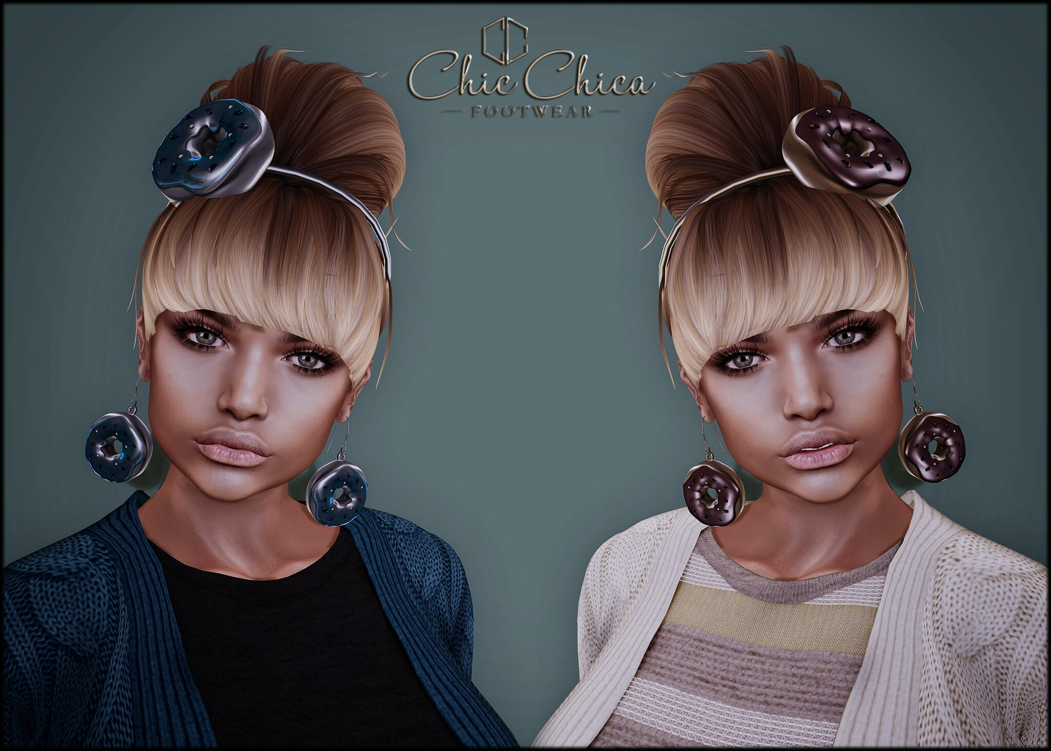 Donut headbands and earrings by ChicChica OUT @ The Project Se7en